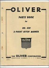 Original Oliver 320 3 Point Hitch Mower Parts Catalog Form S5 9 P2 Dated 091956