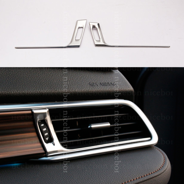 3PCS Blue stainless Interior Air Vent Outlet Frame Trim For 2018 19 Toyota Camry