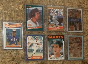 7-Will-Clark-1986-USA-Promo-Fleer-Topps-Donruss-Sportflics-Rookie-Card-Lot-RC