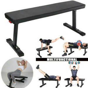 Flat Weight Workout Bench Press Exercise Strength Training Home Gym Performance Ebay