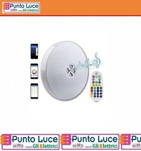 PLAFONIERA-LED-CCT-RGB-25W-DIFFUSORE-ACUSTICO-20W-BLUETOOTH-APP-REMOTE
