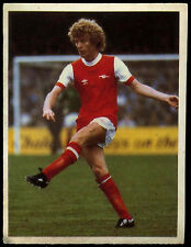 Graham Rix Arsenal Daily Mirror 1986 Football Sticker (C211)