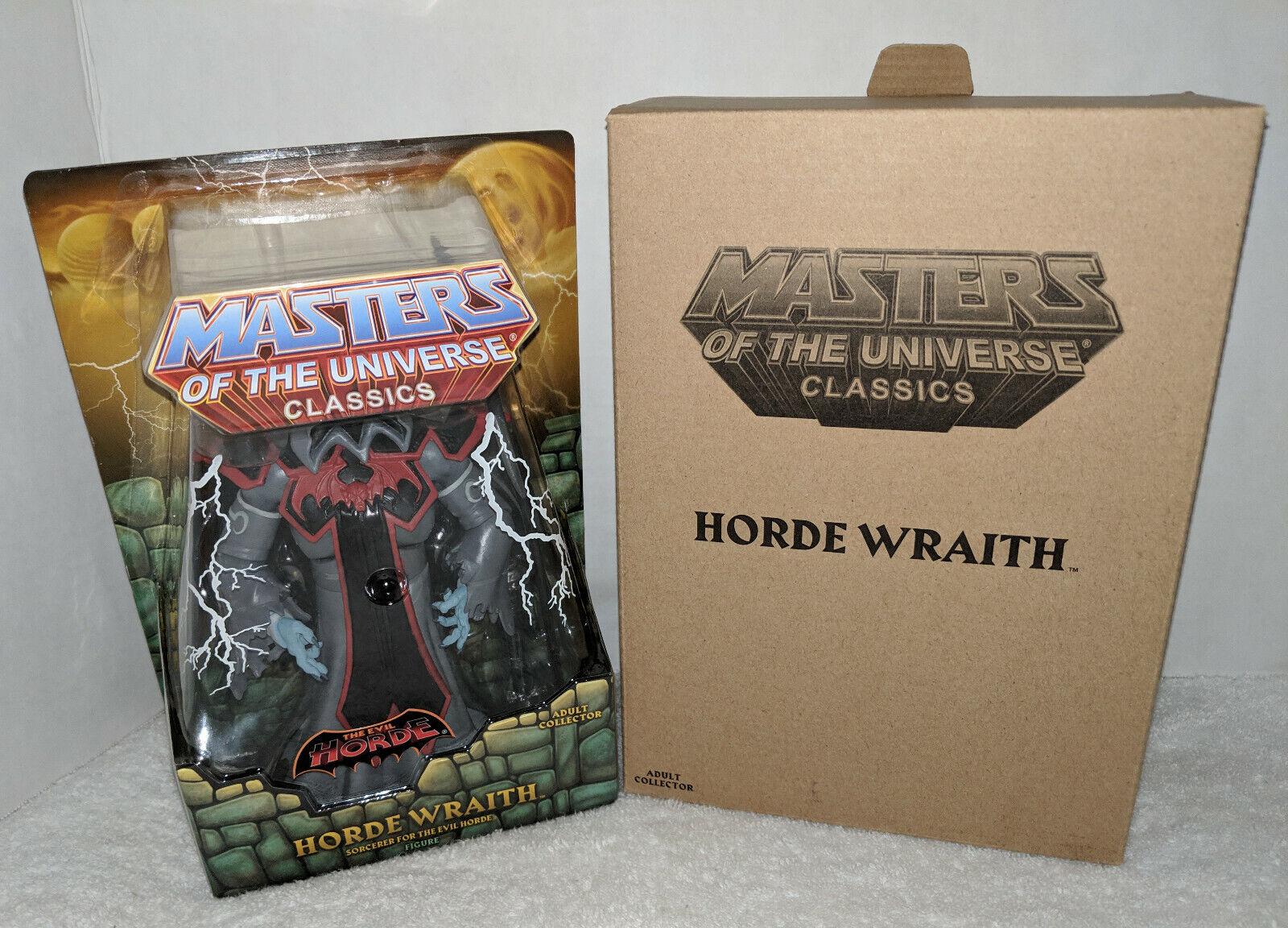 MOTUC Masters of the Universe classeics Horde Wraith cifra MOC Sealed w mailer