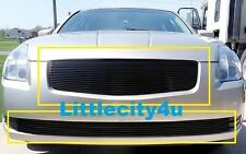 FOR 2004 2005 2006 Nissan Maxima Black Grille Billet Grille Grill Inserts Combo