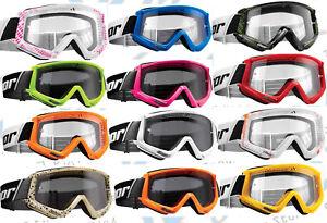 Klarglas Crossbrille MTB Quad HP7 motocross Enduro Brille schwarz verspiegelt Radbrillen