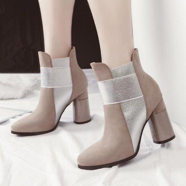 Bottes stivaletti bassi chaussures stiletto 9  beige eleganti pelle sintetica 9490