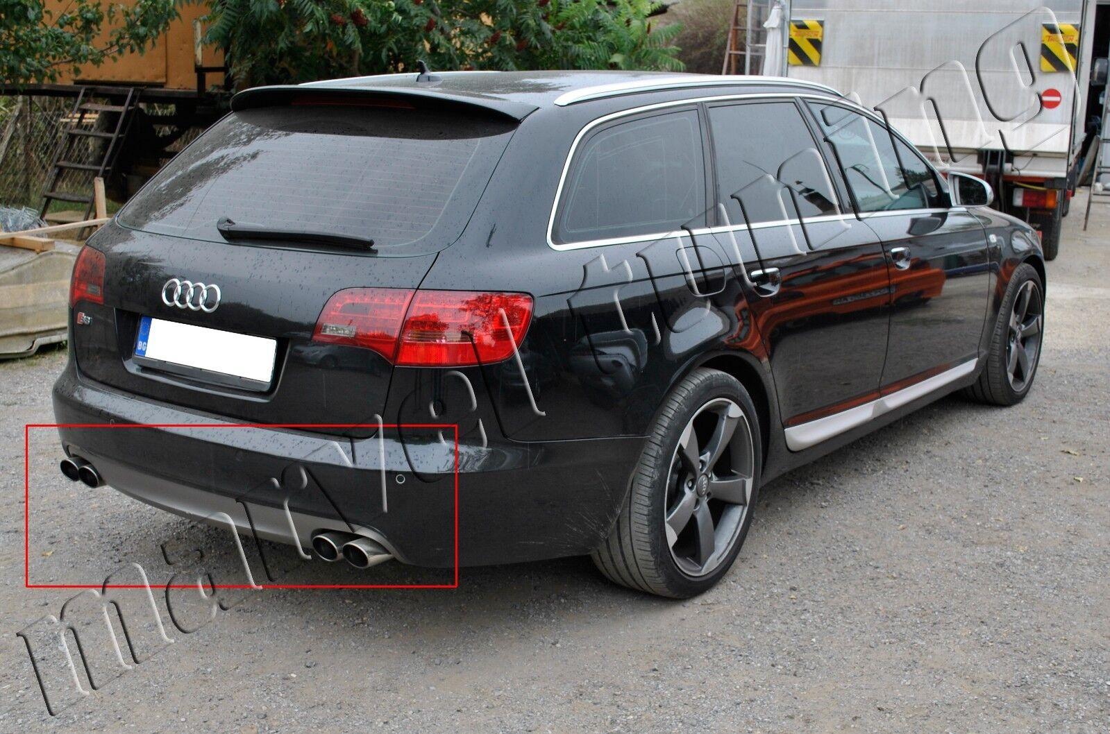 Audi A6 4f C6 04 08 Rear Bumper Diffuser Diffusor Type S6 Avant