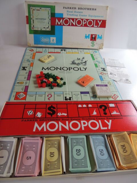 Monopoly Game 1961 Vtg Family Original Complete Parker Brothers Iron No 9
