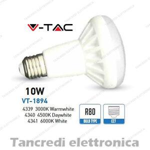 Lampadina-led-V-TAC-10W-65W-E27-VT-1894-R80-faretto-spot-reflector-lampada