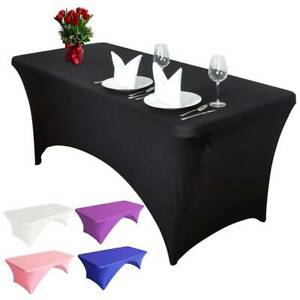 Rectangular Spandex Tablecloth Lycra Stretch Table Cover Trestle
