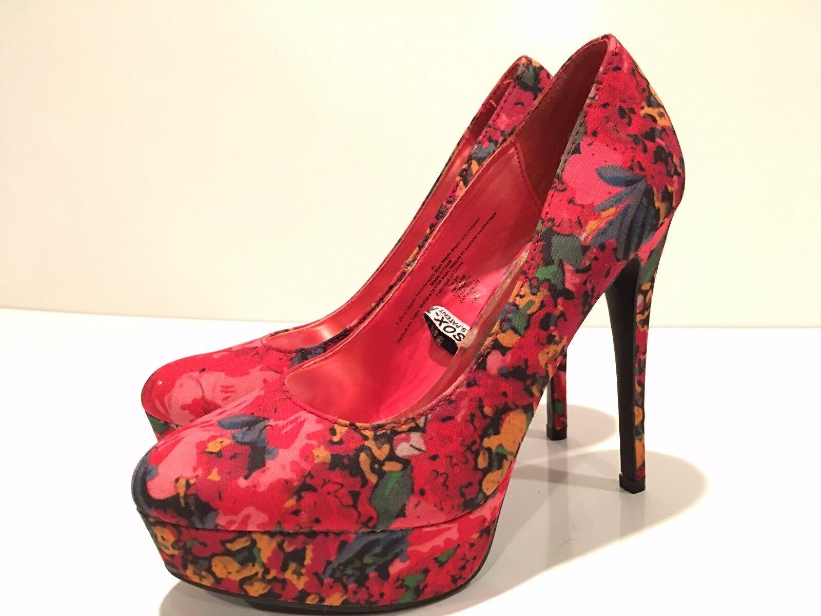 Xhilaration Shoes Women's Platform Floral Print Shoes Xhilaration Size 8.5 M 38239c