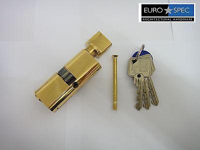 NEW WITH MASTERKEY 5PIN CHROME EUROSPEC OVAL THUMBTURN CYLINDER 30//30mm 60mm