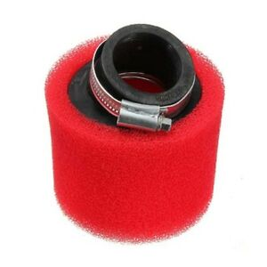 Red-Dual-Foam-Air-Filter-Cleaner-42mm-For-125cc-110cc-Pit-Bike-Quad-ATV-Buggy