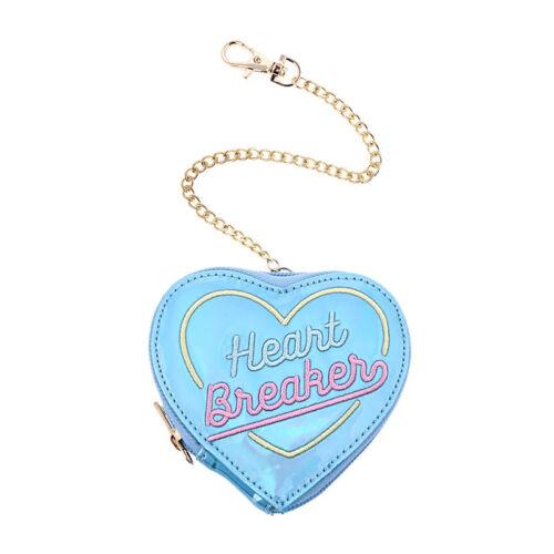 Laser Münze Tasche Herz Kette Stickerei Kleine Geldbörse Geldbeutel Frau Mädchen