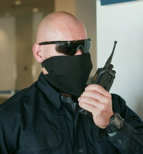 Black Bulletproof Face Mask- Level IIIA Handgun Protection Bullet-Resistant