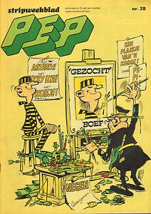 PEP-1973-nr-28-VARIOUS-COMICS-KUIFJE-EN-HET-HAAIENMEER-GOURMELIN