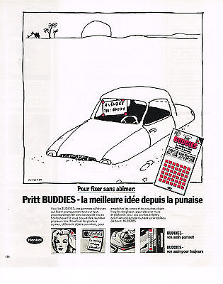 Publicite Advertising 044 1978 Henkel Gommes Adhésives Pritt Buddies 3 Strong Packing Collectibles Other Breweriana