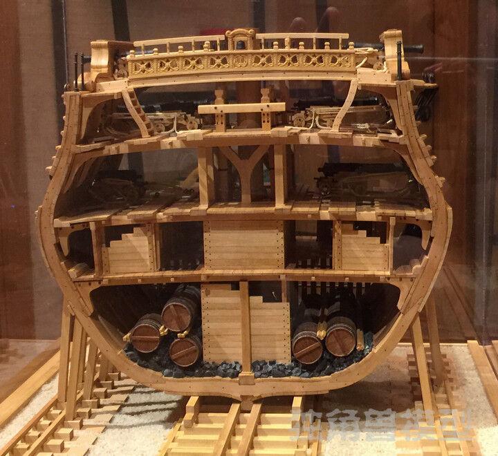 USS Bonhomme Richard Full Rib Cross Section Inside Structure Upgrade Cherry wood