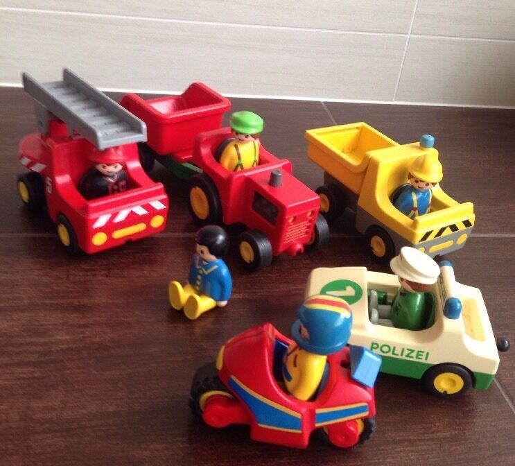 5 Playmobil Autos Geobra Figuren Jahr 1990 Rarität