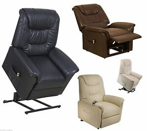Image is loading Riva-Leather-Dual-motor-Electric-riser-recliner-chair-  sc 1 st  eBay & Riva Leather Dual motor Electric riser recliner chair mobility rise ...