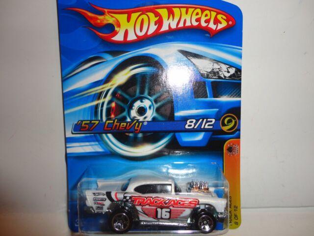2006 Hot Wheels #118 White '57 Chevy Bel Air w/5 Spoke Wheels