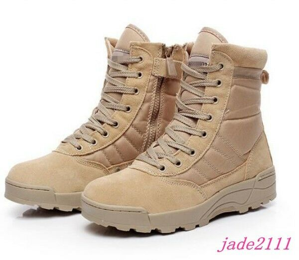 Ankle Boots Mens Military Lace Up Zip Desert Work Combat Outdoor shoes Size