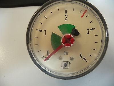 Druckmanometer für Heizung → Anschluß auf der Rückseite -  Außen Ø 16,5 mm