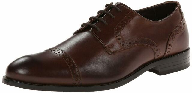 Stacy Adams Mens prescott Lace Up Dress Oxfords, Brown, Size 11.5