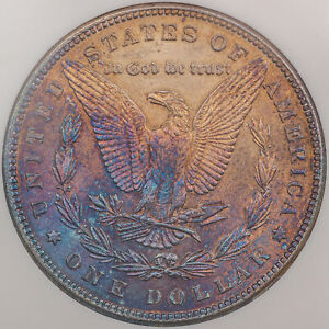 1885-P-USA-MORGAN-SILVER-DOLLAR-TONED-GEM-CHOICE-COLOR-FLAWLESS-BU-UNC-DR