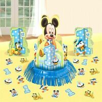 Baby Mickey Mouse 1st Birthday Table Centerpiece & Confetti Party Supplies Decor