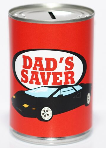 Dads Saver FundSavings Tin Money Box Dads Taxi Holds up to £260 STANDARD