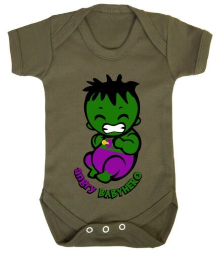 Hulk little Angry Superhero 0-24 Funny Baby Shower Gift Costume Bodysuits Son