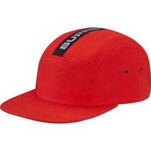 25ef8c8d8edcb SUPREME Tech Tape Camp Hat Cap Red Black Strapback Clip Box Logo ...