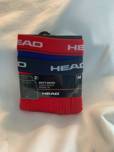 OVP NEU HEAD Boxershorts im 4er Pack Größe M Blau /& Rot
