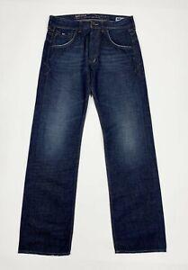 Gas-crocker-jeans-uomo-usato-W31-tg-45-relaxed-comfort-denim-blu-boyfriend-T5514
