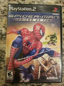 Spider-Man: Friend or Foe (Sony PlayStation 2, PS2, 2007) CIB TESTED FREE S/H