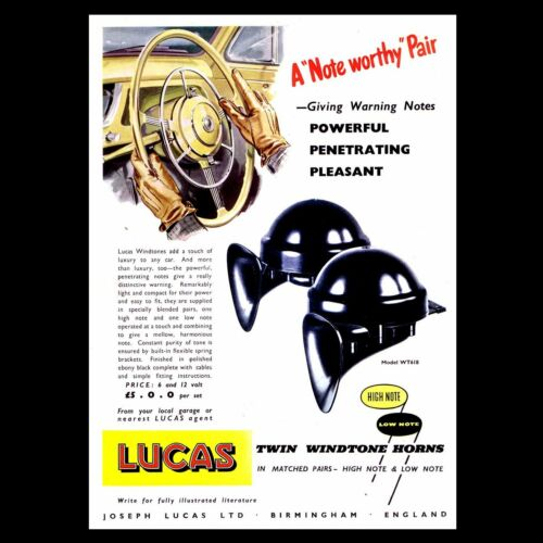Clásico Lucas Tipo WT618 gran tono de viento cuernos Ford Zephyr Zodiac Consul et par