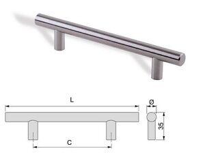 maniglia per mobile in acciaio satinato mm 128 320 640 cucina ...