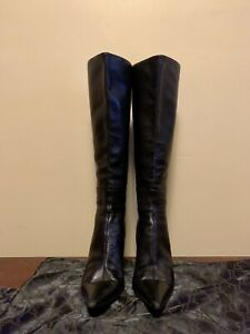 Gucci Vintage Knee High Leather Boots