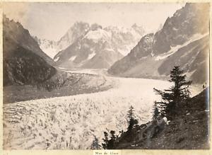 Suisse-Mer-de-Glace-Vintage-albumen-print-Tirage-albumine-21x27-Circa-1