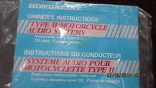 1983 Honda CB1000 Hondaline Type 2 Motorcycle Audio System OEM