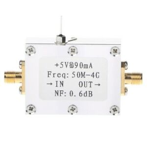 Details about 50M-4GHz Low Noise Amplifier LNA Ham Radio Module RF FM HF  VHF NF=0 6dB -110dBm