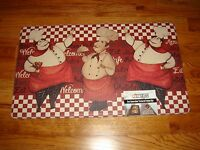 Anti Fatigue Pvc Foam Kitchen Floor Mat Rug 18x30 Fat Chefs Welcome Eat Cafe