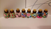 Wholesale 2ml Glass Empty Essential Bottles Polymer Clay Travel Size 20pc
