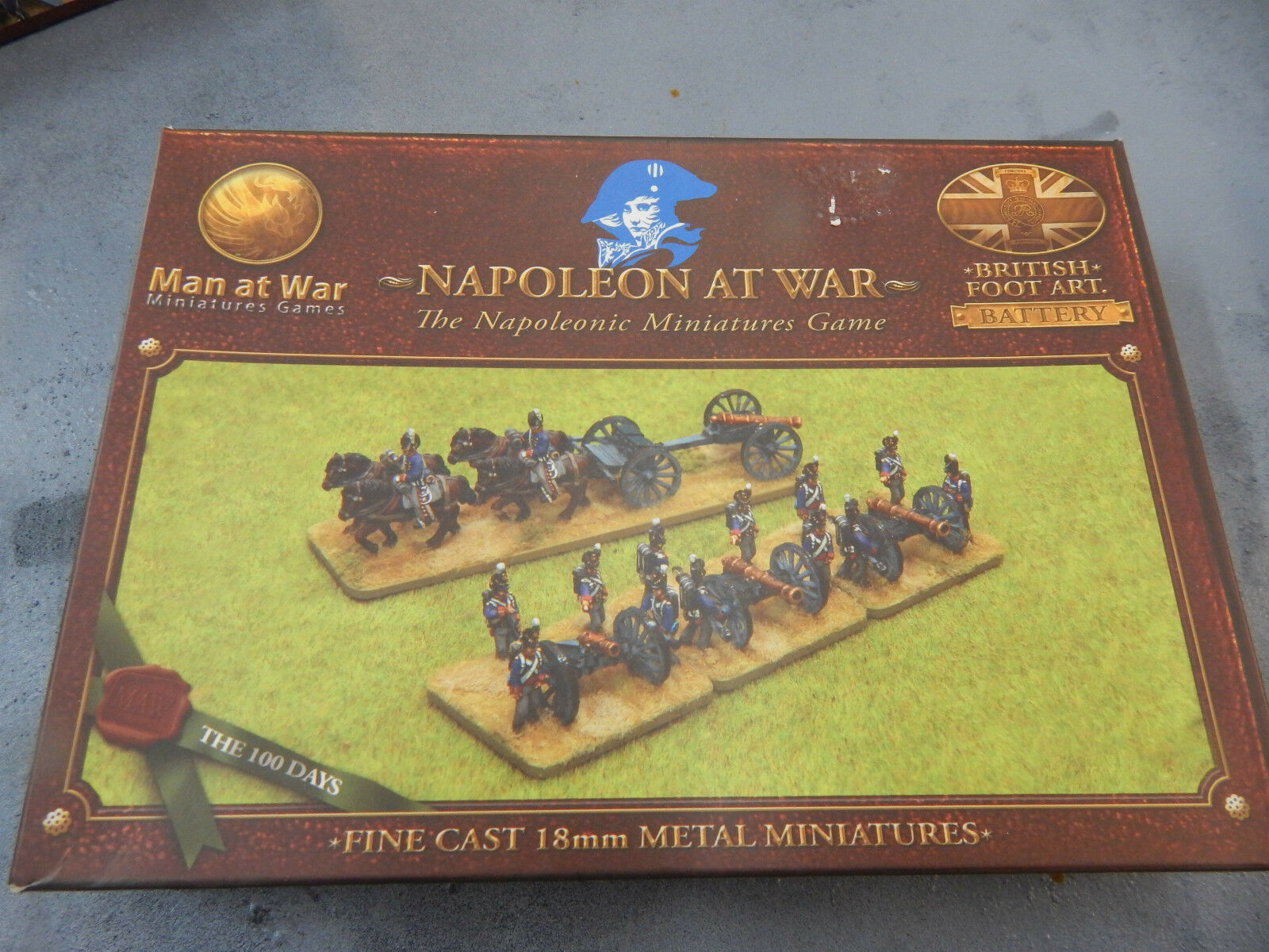 18mm metal boxed Napoleonic British Foot Artillery