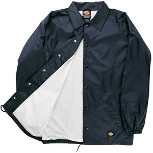 7e8239408458 Dickies Windbreaker Men s Nylon Coaches Jacket Navy Style   76242 LR ...