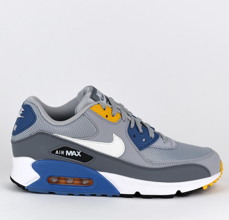 Nike Air Max 90 Essential Men Lifestyle Sneakers New Wolf Grey Indigo AJ1285-016