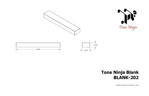 Genuine Tone Ninja Extra Large 2.5 inch Nut Saddle Blank Slab Black BLANK-202-B1