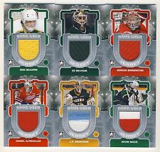 2012-13 ITG Between the Pipes Hockey Game-Used Jersey Complete 60-Card Set