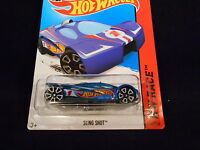 HW HOT WHEELS 2014 HW RACE #141/250 SLING SHOT HOTWHEELS BLUE RACE TRACK READY